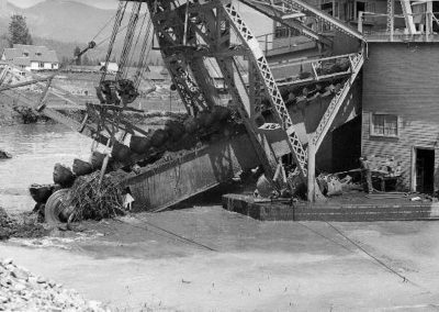 dredge in operation